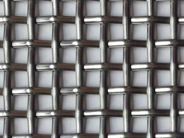 A piece of stainless steel plain weave architectural woven mesh.