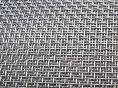 Stainless steel architectural woven mesh made of fine wire mesh.