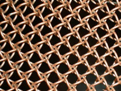 A brass honeycomb wire mesh.